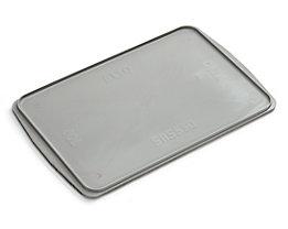 Deckel aus Polystyrol - für Behälterinnenmaße LxB 600 x 405 mm - grau