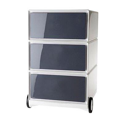 rollcontainer aus kunststoff 3 schubladen. Black Bedroom Furniture Sets. Home Design Ideas