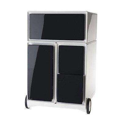 Rollcontainer aus Kunststoff - 1 Schublade, 1 Hängeregistraturschub, 2 CD-Schübe