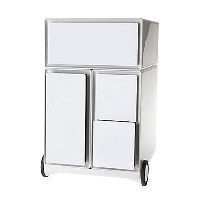 caisson roulant en plastique 1 tiroir 1 tiroir pour dossiers suspendus 2 tiroirs pour cd. Black Bedroom Furniture Sets. Home Design Ideas