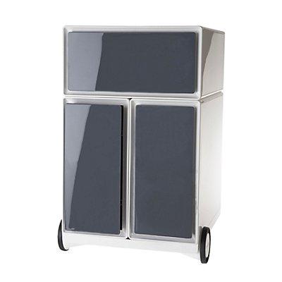 caisson roulant en plastique 1 tiroir 2 tiroirs pour dossiers suspendus. Black Bedroom Furniture Sets. Home Design Ideas