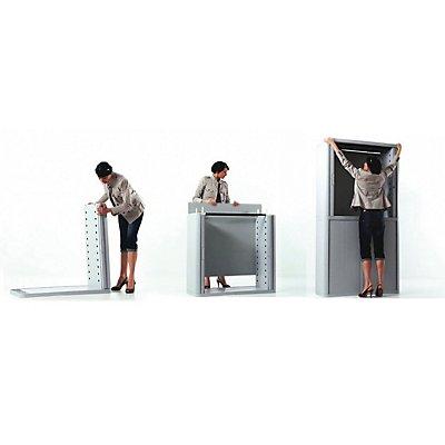 Paperflow Rollladenschrank EASYOFFICE - 2 Fachböden, Höhe 1040 mm