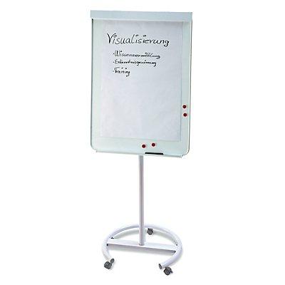 magnetoplan® Tableau de conférence JUNIOR PLUS MOBIL - dimensions utiles: 700 x 1000 mm - blanc / gris clair