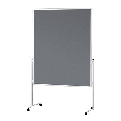 magnetoplan® Moderationswand, Rahmen weiß - einteilig