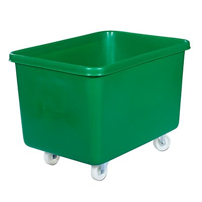 Rechteckbehälter aus Polyethylen, fahrbar - Inhalt 340 l