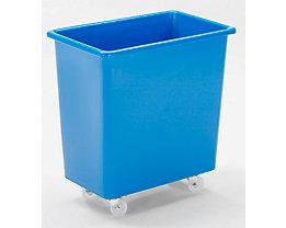 Rechteckbehälter aus Polyethylen, fahrbar - Inhalt 135 l