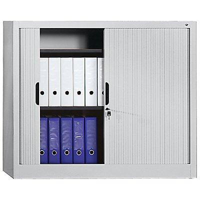 Rollladenschrank, Höhe 1030 mm - BxT 1000 x 420 mm, 2 Fachböden