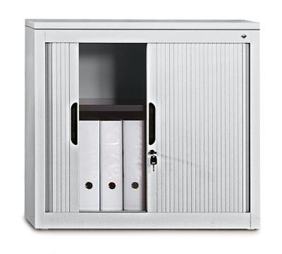 Rollladenschrank, Höhe 720 mm - BxT 800 x 420 mm, 1 Fachboden - lichtgrau