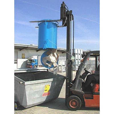 Rundbehälter, Bodenentleerung - Höhe 775 mm, Volumen 0,30 m³