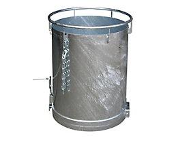 Rundbehälter, Bodenentleerung - Höhe 1085 mm, Volumen 0,45 m³, feuerverzinkt