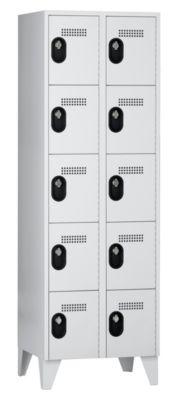 Wolf Garderobenschrank, Fachhöhe 325 mm - HxBxT 1850 x 600 x 500 mm, Abteilbreite 300 mm
