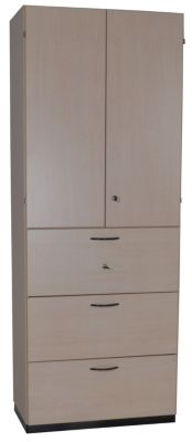 office akktiv CARINA Büroregalschrank - 3 Schübe für Hängeregistratur, 2 Fachböden hinter Türen