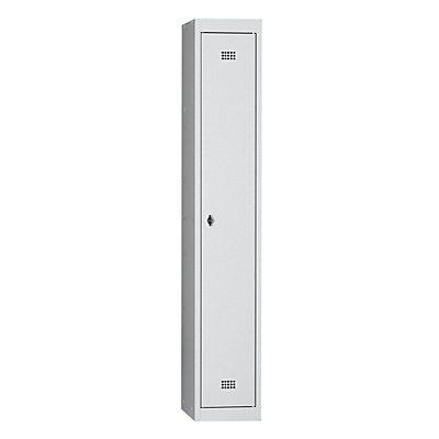 Wolf Stahlspind, zerlegt - 1 Abteil, Höhe 1700 mm, Breite 300 mm, 1 Hutboden, 1 Kleiderstange