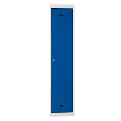 Wolf Stahlspind, zerlegt - 1 Abteil, Höhe 1700 mm, Breite 400 mm, 1 Hutboden, 1 Kleiderstange