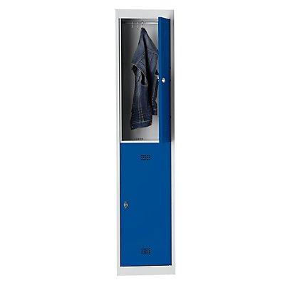 Wolf Stahlspind, zerlegt - 2 Abteile, Höhe 840 mm, Breite 400 mm, 1 Kleiderstange