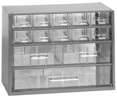 Schubladenmagazin - HxB 238 x 306 mm, 13 Schubladen