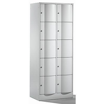 CP Schließfachschrank - HxBxT 1950 x 770 x 540, 10 Fächer