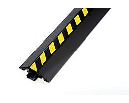 Kabelbrücke aus Aluminium - LxBxH 1500 x 80 x 20 mm - schwarz / gelb, VE 4 Stk