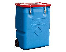 CEMO Gefahrstoff-Sammelbehälter mit 2 Rädern - Inhalt 170 l