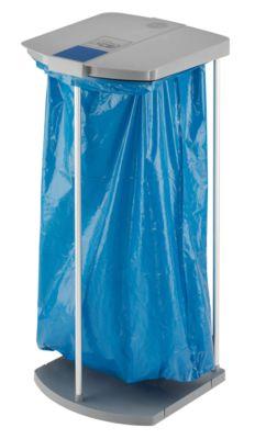 Wertstoffsackhalter-Set mit 250 blauen Wertstoffsäcken - Gestell 1 x 120 l, HxBxT 1000 x 430 x 450 mm