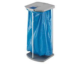 Kit support sacs-poubelle avec 250 sacs-poubelle bleus - 1 châssis 120 l, h x l x p 1000 x 430 x 450 mm