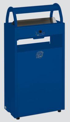 Abfallsammler mit Ascher und Regenschutzdach - Abfallvolumen 60 l, Aschervolumen 9 l