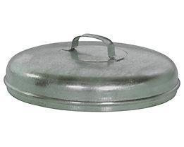 Stahlblechdeckel, verzinkt - für Rundtonne - für 60-Liter-Tonne