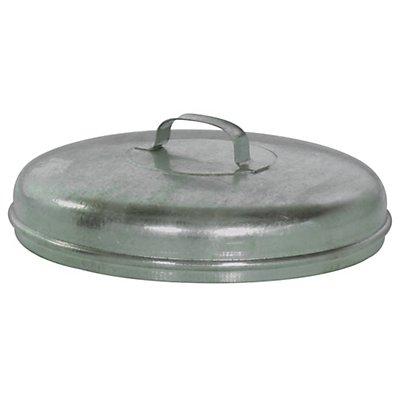 Stahlblechdeckel, verzinkt - für Rundtonne
