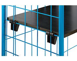Etagenboden, MDF-Holz, Dekor beschichtet - mit 4 Auflagehaken, Tragfähigkeit 50 kg