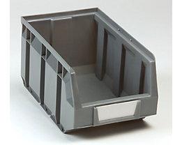 Sichtlagerkasten aus Polyethylen - LxBxH 237 x 144 x 123 mm - grau, VE 38 Stk