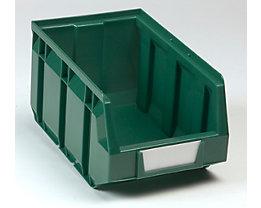 Sichtlagerkasten aus Polyethylen - LxBxH 237 x 144 x 123 mm - grün, VE 38 Stk