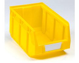 Sichtlagerkasten aus Polyethylen - LxBxH 237 x 144 x 123 mm - gelb, VE 38 Stk