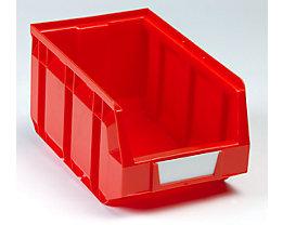 Sichtlagerkasten aus Polyethylen - LxBxH 237 x 144 x 123 mm - rot, VE 38 Stk
