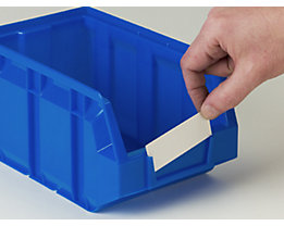 Etiketten - für Sichtlagerkasten, VE 100 Stk