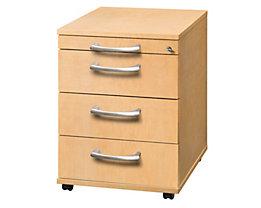 office akktiv ANNY Caisson roulant - 1 tirette-plumier, 3 tiroirs, profondeur 553 mm