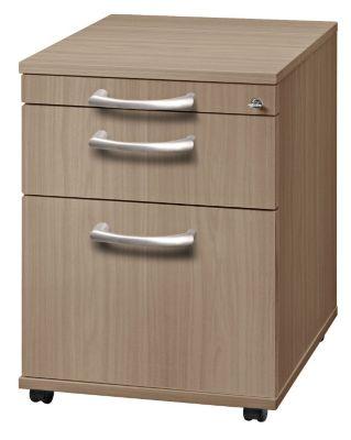 office akktiv ANNY Rollcontainer - 1 Utensilienschub, 1 Materialschub, 1 Hängeregistratur, Tiefe 553 mm