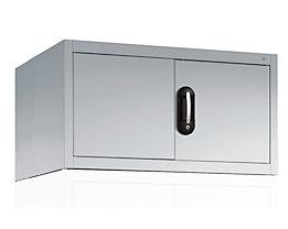 CP Aufsatzschrank mit Flügeltüren - HxBxT 500 x 930 x 500 mm - lichtgrau