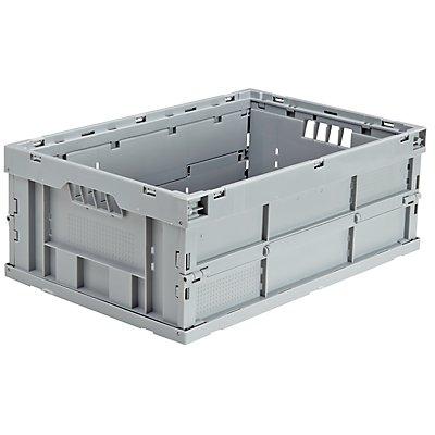 utz Faltbox aus Polypropylen - Inhalt 43 l, LxBxH 600 x 400 x 225 mm - blau, VE 4 Stk