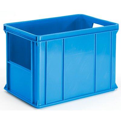 Plastipol-Scheu Stapel- und Transportbehälter - Wände, Boden geschlossen, Stirnseitenöffnung