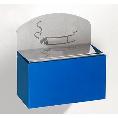 Wandascher mit Hinweisschild - Stahlblech, HxBxT 87 x 140 x 98 mm