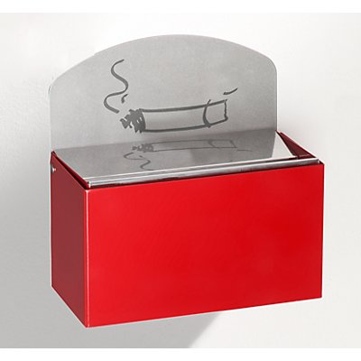 VAR Wandascher mit Hinweisschild - Stahlblech, HxBxT 87 x 140 x 98 mm