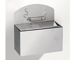 Wandascher mit Hinweisschild - Edelstahl, HxBxT 87 x 140 x 98 mm