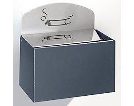 Wandascher mit Hinweisschild - Stahlblech, HxBxT 125 x 200 x 125 mm