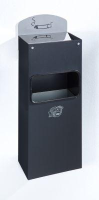 Wandascher mit Hinweisschild - Stahlblech, HxBxT 505 x 200 x 125 mm