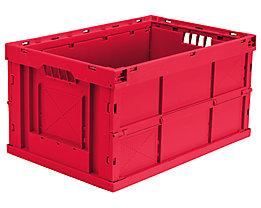 Faltbox aus Polypropylen - Inhalt 63 l, LxBxH 600 x 400 x 320 mm - rot, VE 4 Stk