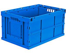 Faltbox aus Polypropylen - Inhalt 63 l, LxBxH 600 x 400 x 320 mm - blau, VE 4 Stk