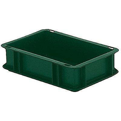 Euro-Format-Stapelbehälter, Wände und Boden geschlossen - LxBxH 300 x 200 x 75 mm - grün, VE 5 Stk
