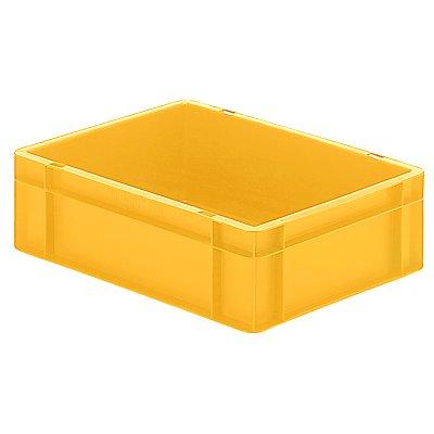 Euro-Format-Stapelbehälter, Wände und Boden geschlossen - LxBxH 400 x 300 x 120 mm - blau, VE 5 Stk
