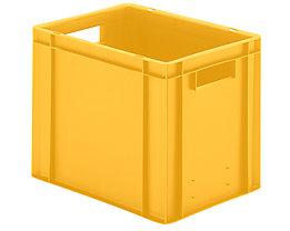 Euro-Format-Stapelbehälter, Wände und Boden geschlossen - LxBxH 400 x 300 x 320 mm - gelb, VE 5 Stk