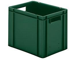 Euro-Format-Stapelbehälter, Wände und Boden geschlossen - LxBxH 400 x 300 x 320 mm - grün, VE 5 Stk